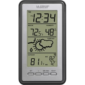 La Crosse Technology Digital Forecast Thermometer for $22
