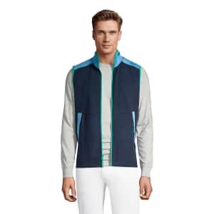 Lands' End Men's Colorblock Fleece Vest for $8