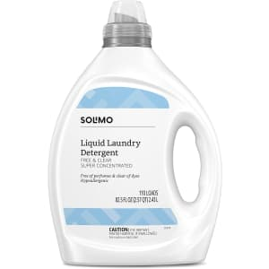 Solimo Free & Clear Liquid Laundry Detergent 82.5-oz. Bottle for $8.86 via Sub & Save