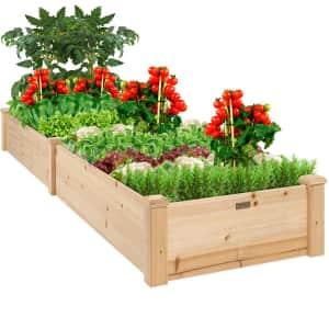 Best Choice 8-Ft. Raised Wooden Garden Bed Planter for $80
