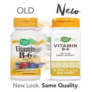 Nature's Way Vitamin B6, 100 Capsules (Pack of 2) for $10