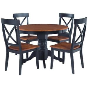 Home Styles Bishop 5-Piece Solid Hardwood Dining Set for $465