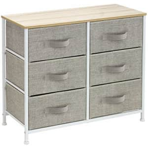 Sorbus Dresser with 6 Drawers - Furniture Storage Tower Unit for Bedroom, Hallway, Closet, Office for $62