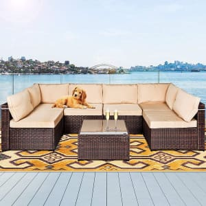 Lafwell 7-Piece Patio Furniture Set for $364