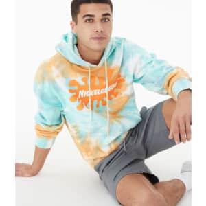 Nickelodeon Men's Tie-Dye Pullover Hoodie for $20