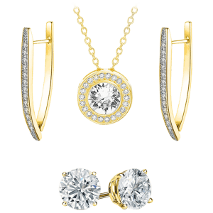 Golden NYC Jewelry 4-Piece 18K Gold-Plated Set for $21