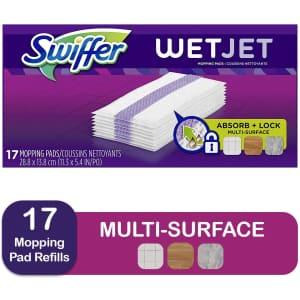 Swiffer WetJet Hardwood Floor Pad Refill 17-Pack for $4.81 via Sub & Save