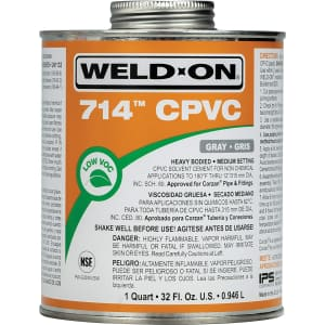 Weld-On 714 CPVC 1-Qt. Solvent Cement for $25