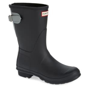 Hunter Women's Original Short Back Adjustable Rain Boots for $93