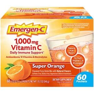 Emergen-C Vitamin C 1000mg Powder (60 Count, Super Orange Flavor, 2 Month Supply), With for $17