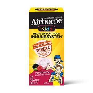 Airborne KIDS Vitamin C 500mg (per serving) - Very Berry Chewable Tablets (32 count in a box), for $12