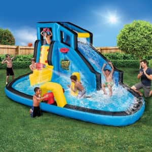 Banzai Battle Blast Inflatable Water Park for $300