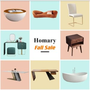 Homary Fall Sale: Up to 55% off