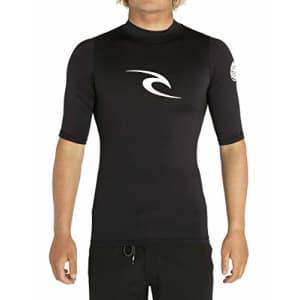 Rip Curl Corpo Short Sleeve Rash Guard, Black, XL for $27
