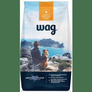 Amazon Brand Wag Dry Dog Food 30-lb. Bag for $19 via Subscribe & Save