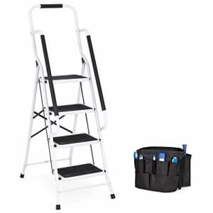 Best Choice Products Folding Safety Ladder w/ Handrails, Attachable Tool Bag for $80