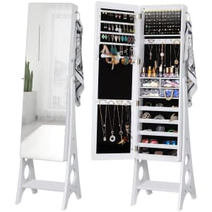 Yokukina LED Jewelry Cabinet Armoire for $166