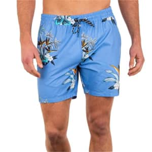 """Hurley Men's Standard Hermosa 17"""" Volley Board Shorts, Blue Beyond, Large for $39"""