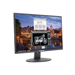 """Sceptre E225W-19203R 22"""" Ultra Thin 75Hz 1080p LED Monitor 2x HDMI VGA Build-in Speakers, Metallic for $127"""