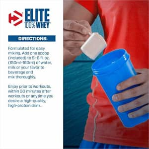 Dymatize Elite 100% Whey Protein Powder, 25g Protein, 5.5g BCAAs & 2.7g L-Leucine, Quick Absorbing for $60