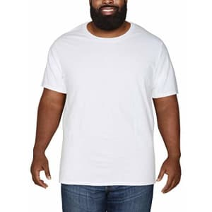 Fruit of the Loom Men's Eversoft Cotton Short Sleeve T-Shirt (Big Man Sizes), Crew-White, 3X-Large for $10