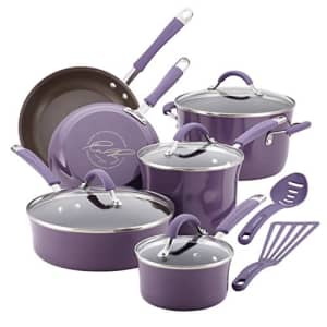 Rachael Ray Cucina Nonstick Cookware Pots and Pans Set, 12 Piece, Lavender for $160