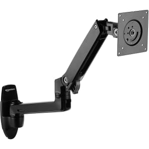 AmazonBasics Premium Wall-Mount Monitor and TV Arm Stand for $109