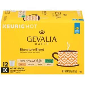 Gevalia Signature Blend Decaf Mild Roast K-Cup Coffee Pods (12 Pods) for $45