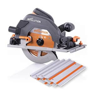 """Evolution Power Tools R185CCSX 7-1/4"""" Multi-Material Circular Track Saw Kit w/ 40"""" Track for $183"""