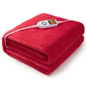 TaoTronics Electric Heated Throw for $36