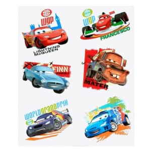 Hallmark Disney Cars 2 Tattoos (2 sheets) Party Supplies 6-pack set for $1