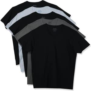 Gildan Men's V-Neck T-Shirt 5-Pack for $12