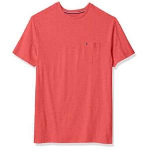 Tommy Hilfiger Big & Tall Men's Big and Tall Short Sleeve T-Shirt, B0452 RED Heather, 2XL-TL for $39