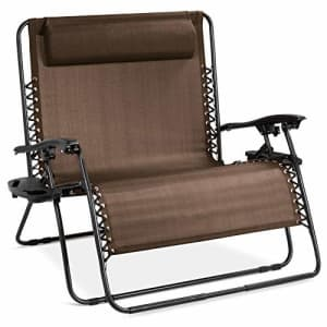 Best Choice Products 2-Person Double Wide Adjustable Folding Steel Mesh Zero Gravity Lounge for $210