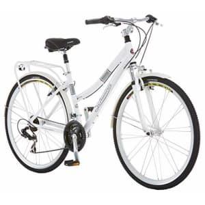 Schwinn Discover Hybrid Bike for Men and Women, 21-Speed, 28-inch Wheels, 16-inch/Small Frame, White for $542