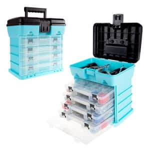 Stalwart - 75-ST6089 Storage and Tool Box-Durable Organizer Utility Box-4 Drawers, 19 Compartments for $40
