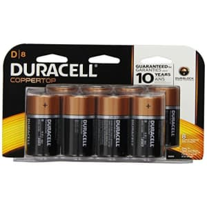 Duracell Coppertop D Alkaline Batteries, 8 Count (Pack of 2) for $14