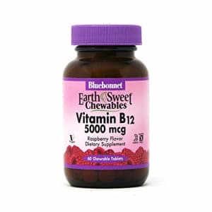 Bluebonnet Earth Sweet Vitamin B-12 5000 mcg Chewable Tablets, Raspberry, 60 Count for $15