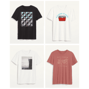 Old Navy Men's Soft-Washed Graphic T-Shirt for $4