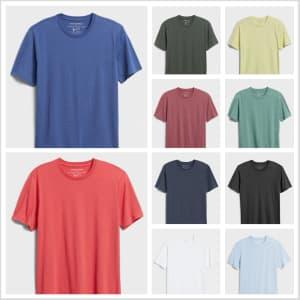 Banana Republic Factory Men's Premium Wash Crew-Neck T-Shirts: 11 for $80 in cart