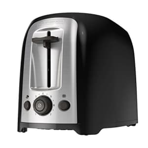 Black + Decker BLACK+DECKER 2-Slice Extra Wide Slot Toaster, Classic Oval, Black with Stainless Steel Accents, for $39