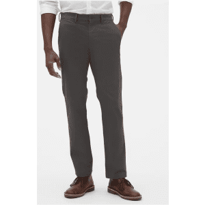 Gap Factory Men's GapFlex Essential Khakis in Straight Fit w/ Washwell for $5