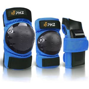 PHZ Kids' and Adults' Elbow Pads & Wrist Guard Set for $7