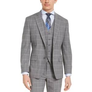 Michael Kors Men's Classic-Fit Plaid Wool Suit Jacket for $60
