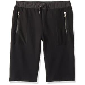 HUDSON Boys' Big Pull On Short, High Tech Black, XL for $22