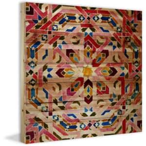 """Parvez Taj """"Farnatchi"""" 18"""" x 18"""" Natural Pine Wood Wall Art for $57"""