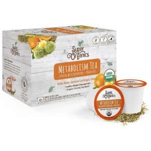 Super Organics Metabolism Tea K-Cup 12-Count for $11 via Sub & Save