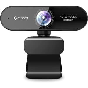 eMeet Nova 1080p Autofocus Webcam with Microphone for $20