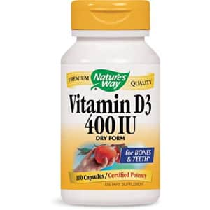 Nature's Way Dry Vitamin D, 100 Capsules (Pack of 2) for $16