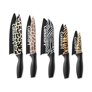 Cuisinart 10-Piece Animal Print Knife Set for $25